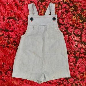 Other - ⚠️ SOLD ⚠️ Vtg Handmade Pinstripe Overall Short 2T